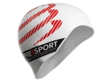 Gorro de natacion COMPRESSPORT SWIM CAP - blanco -