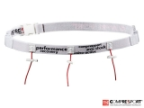 Portadorsal Compressport Race Belt - blanco