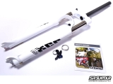 Horquilla Suntour XCR AIR RL 29 100mm - blanco