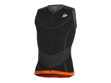 Top triatlon Spiuk Long Distance - negro / naranja