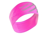 Bandana / cinta de pelo Compressport Headband ON/OFF - rosa